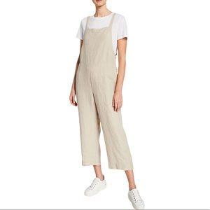 Eileen Fisher Cropped Organic Linen Jumpsuit